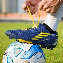 afe9a029ae 2018 Homens Novos Estilos de Futebol FG Futebol Sapatos Ao Ar Livre Tênis  para Homens Macho