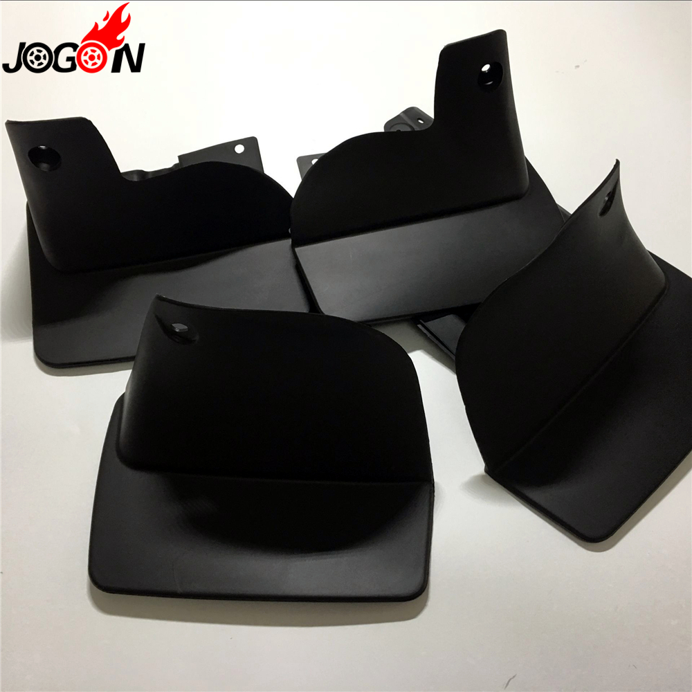 Black Front & Rear Mud Fender Flaps Splash Guard Mudflaps Mudguard Cover Trim For Toyota Land Cruiser LC100 FJ100 1999   2007-in Mudguards from Automobiles & Motorcycles    1