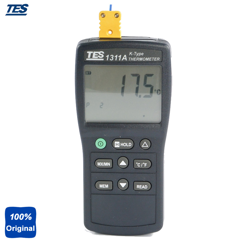 TES-1311 Digital Industrial K Type Thermocouple Thermometer Temperature With Backlight LCD Display цена