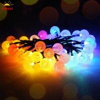 Solar Globe LED Ball String Lights Solar Powered Christmas Light Patio Lights Lighting For Home Garden