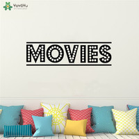 YOYOYU Wall Decal Movies Wall Decal Home Theater Vinyl Sticker Wall Mural For Living Room Film Cinema Art Decor QQ184