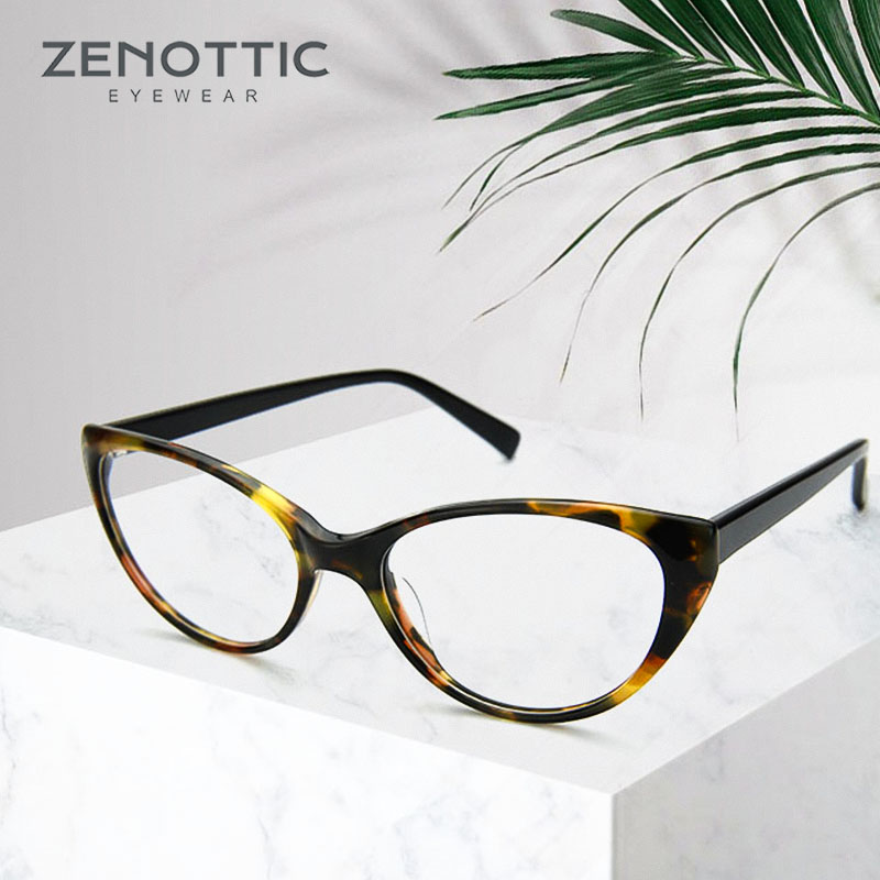 de96dee28ad9 ZENOTTIC Optical Prescription Glasses Frames Women Hyperopia Myopia  Eyeglasses Frames Retro Cat Eye Tortoise Spectacles Frames