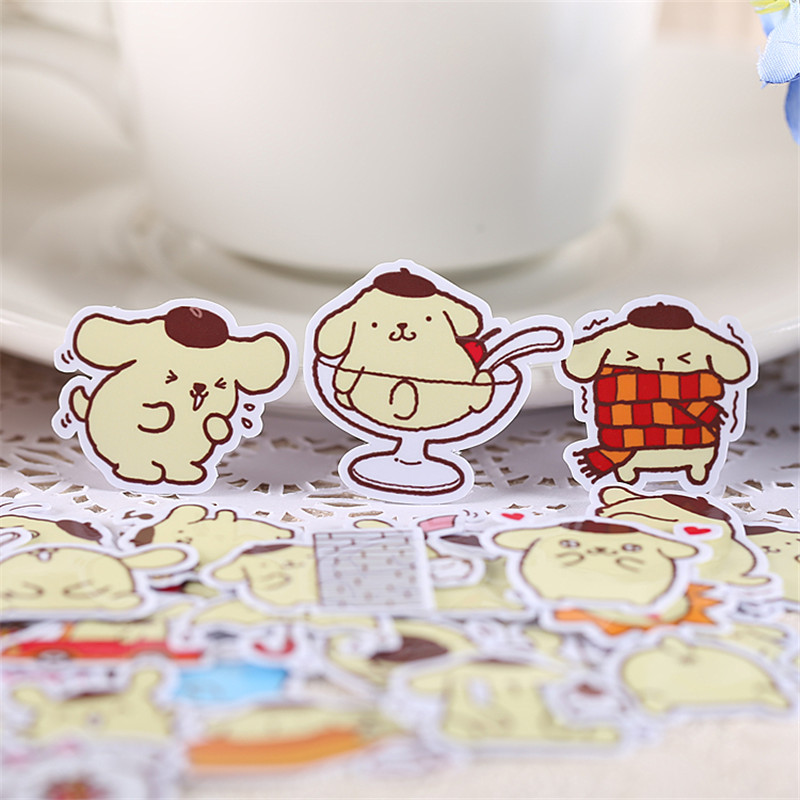 35 PCS Artoon Cute Little Puddi Paper Stickers Crafts And Scrapbooking Stickers Kids Toys Book Decorative Sticker DIY Stationery