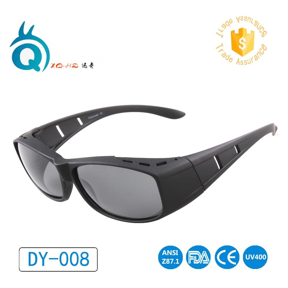 DY008 poliarizuoti objektyvo akiniai Talpinti akinius nuo saulės Covers Wear Prescription Glasses, vairuojantys vyrus Moterys, akiniai nuo saulės