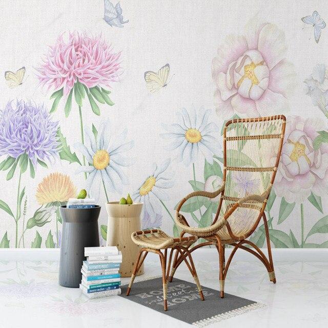 Papel Tapiz Para Paredes 3d Fondos Flores Modernas Mural Naturaleza - Tapices-de-pared-modernos