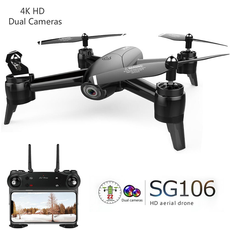 SG106 RC Drone with Camera HD 1080P 720P 4K Dual Camera Helicopter Real Time Aerial Video