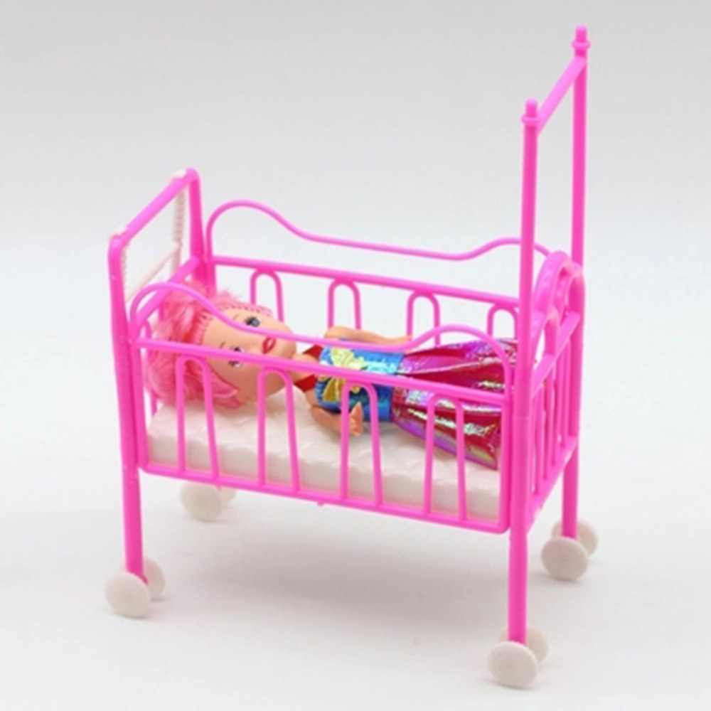 Baby Bed With Mosquito Net For Small Kelly Dolls Doll Accessories