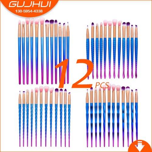12 Make-up Brushes, Make-up Tools, Eye Shadow Brush, Eye Brush  Foundation Brush, Make-up GUJHUI
