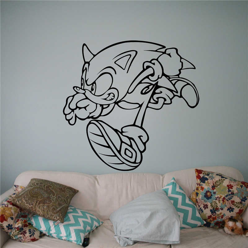 Sonic Vinyl Decal Sonic Hedgehog Wall Vinyl Sticker Video Game Cartoons Home Interior Children Kids Room Decor X045 Room Decoration Kids Room Decorationvinyl Decal Aliexpress
