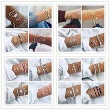 цены Fashion 20 Styles Mix Turtle Heart Pearl Wave LOVE Crystal Marble Charm Bracelets For Women Boho Tassel Bangle Jewelry Wholesale