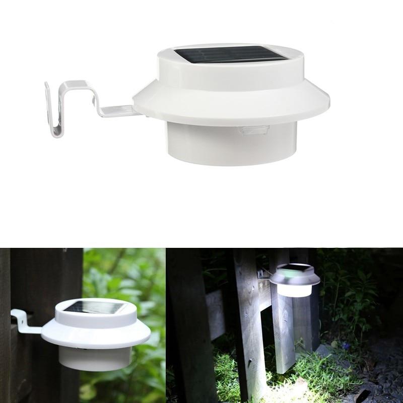4 LED Energy Saving LED Solar Light Pure White LED Solar Power Outdoor Light Garden Light