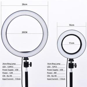 Image 4 - Fosoto Lámpara de Anillo de luz Led regulable, iluminación fotográfica de 16cm/26cm, 3200K 5500K, fotografía de estudio con teléfono, vídeo, belleza, cámara de maquillaje