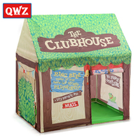 QWZ Foldable Play Tent Kids Children Boy Girl Castle Cubby Play House Bithday Christmas Gifts Outdoor