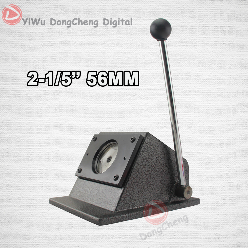 New Heavy Duty manual Round 56 mm 2 - 1/5  paper cutter Stand Die Cutter Button Maker DCQD-56 2 sets new heavy duty manual multi