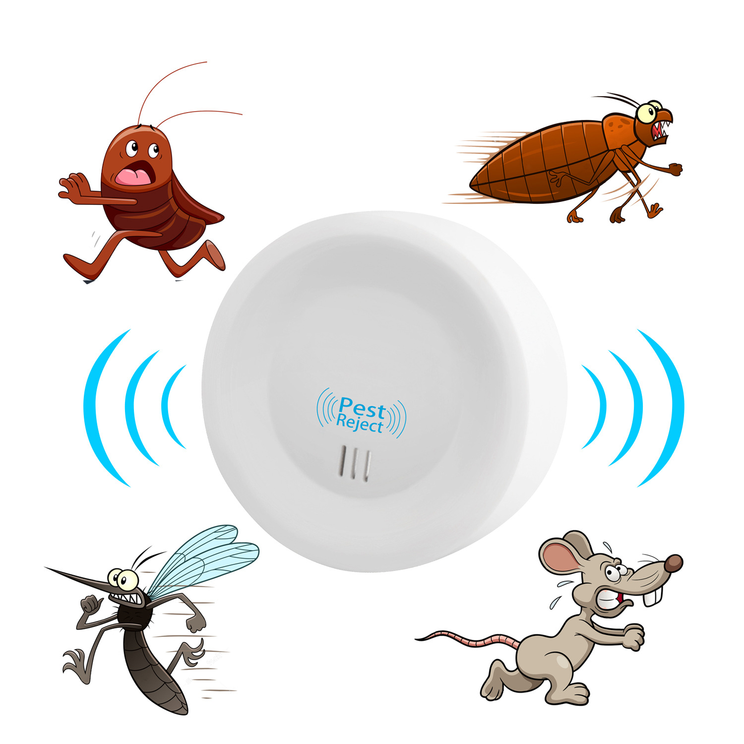 Pest Reject Mosquito Repellent Ultrasonic Electromagnetic Repeller Anti Mosquito Repellent Mouse Rejection Insect Household