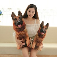 new style 3D dimensional design German shepherd dog plush toy soft doll throw pillow Christmas gift s2740