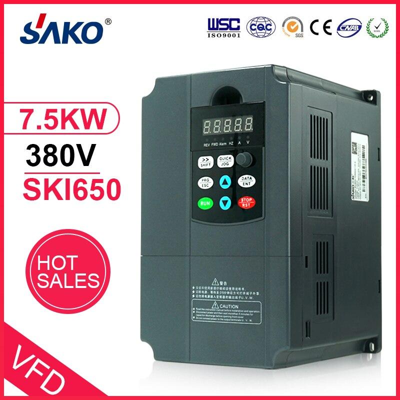 Sako VFD 380 V 7.5KW Inverter Solare Fotovoltaico Regolatore di Potenza per Uso della PompaSako VFD 380 V 7.5KW Inverter Solare Fotovoltaico Regolatore di Potenza per Uso della Pompa