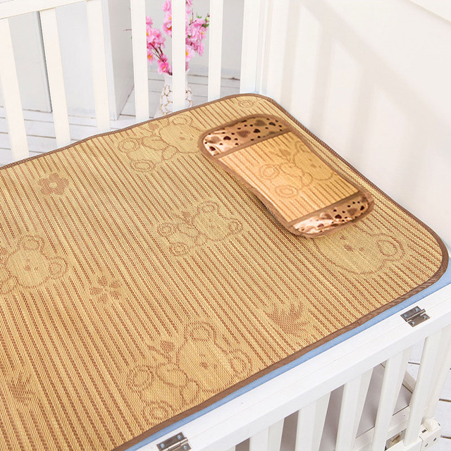 116*59cm Summer Baby Bed Straw kit de Bero Sleeping Mat Children Nature Breathable Crib Cot Bedding Sets
