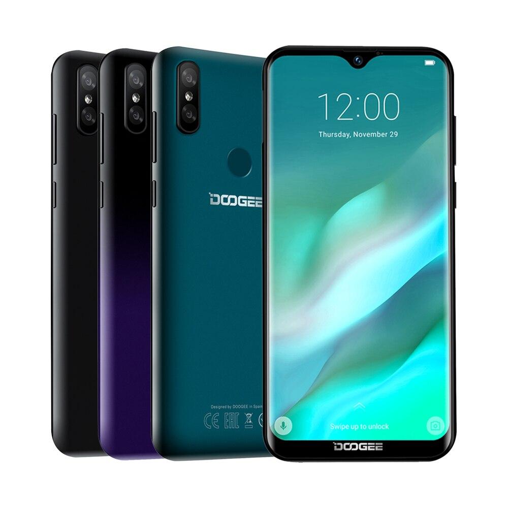 DOOGEE Y8 Android 9.0 FDD LTE Smartphone MTK6739 3GB RAM 16GB ROM 6.1inch 19:9 Waterdrop LTPS Screen 3400mAh Dual SIM 8.0MP Cam