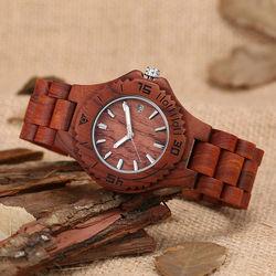 wood watch women quartz calendar pointers dress lady watches 2017 sandalwood band luxury brand girls.jpg 250x250
