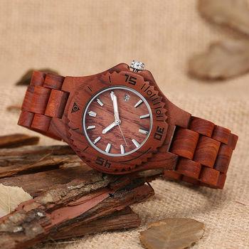 wood watch women quartz calendar pointers dress lady watches 2017 sandalwood band luxury brand girls.jpg 350x350