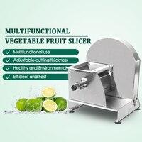 Ручной механический нож для резки ломтиками овощей и фруктов из нержавеющей стали многофункциональный большой ручной нож для резки коммер...