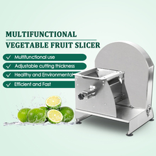 Manual Stainless Steel Slicer Vegetable Fruit Cutter Multifunction Large Operation Commercial Kitchen Tool