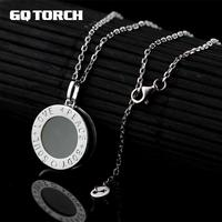 GQTORCH 925 Sterling Silver Natural Gemstone Jade Pendant Necklace Carving Letter Body Soul Love Peace Gold Plated Fine Jewelry