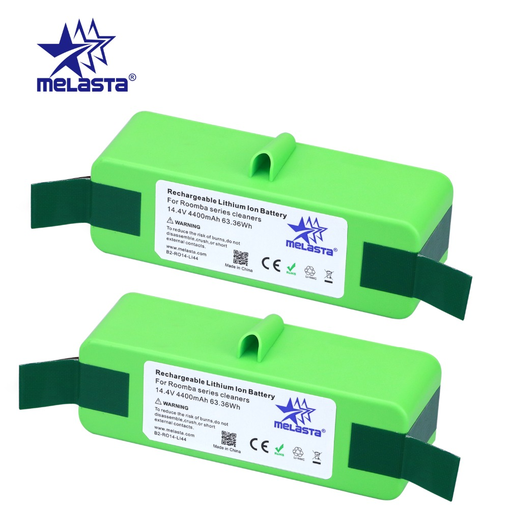 цена на 2pcs 4.4Ah 14.4V Li-ion Battery with Brand Cells for iRobot Roomba 500 600 700 800 980Series 510 530 550 560 650 770 780 870 880