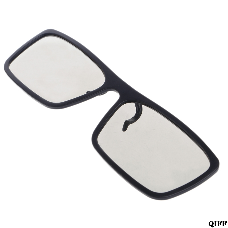 Drop Ship&Wholesale Clip-On Type Circular Passive Polarized 3D Glasses For TV Real 3D Cinema 0.22mm APR28