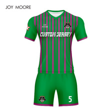 476b2113bbb high quality football jersey green and pink soccer uniform custom soccer  jersey set(China)