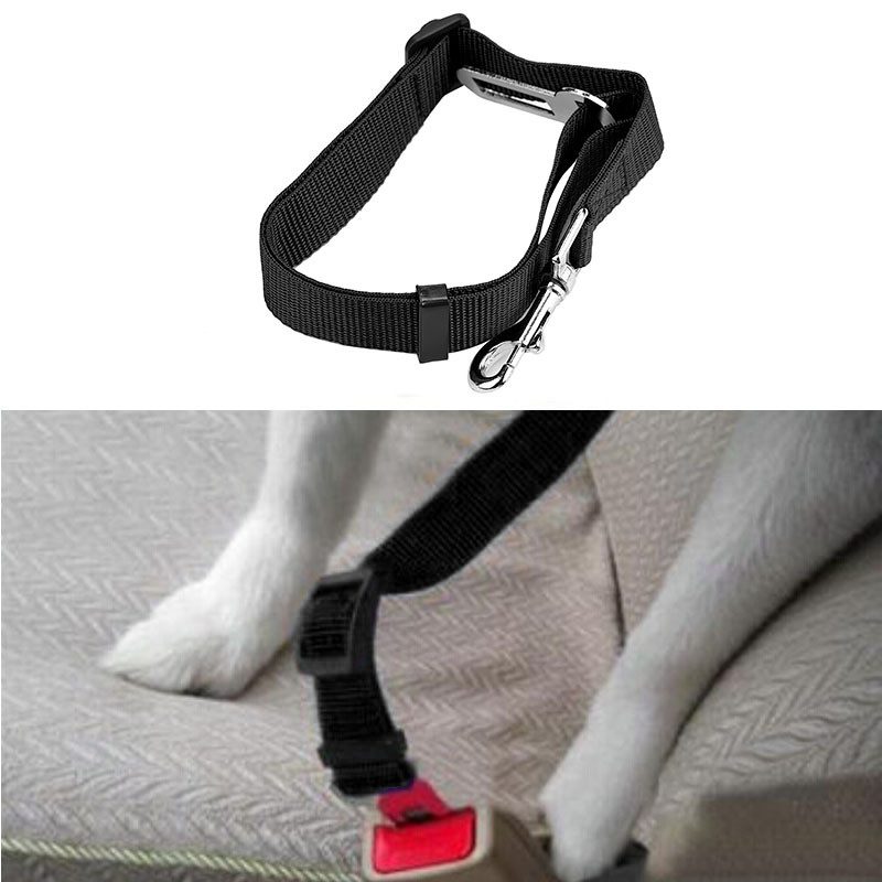 Transer Collars, Harnesses & Leads Dog Collar Car Safety Seat Belt Dog Harness Vest Puppy Collar Nylon New Drop Shipping  July6