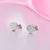 Moda Real 925 Sterling Silver Stud Brincos com AAA Branco pérola de Cristal de Zircão CZ Parafuso Prisioneiro Do Diamante Brinco para Mulheres Acessórios