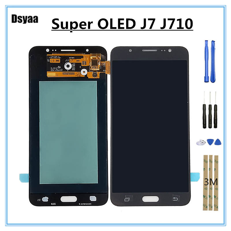 5.5 Inch Super OLED for Samsung for Galaxy J7 2016 J710 J710F J710M J710H LCD Display Touch Screen Digitizer Assembly with Tools5.5 Inch Super OLED for Samsung for Galaxy J7 2016 J710 J710F J710M J710H LCD Display Touch Screen Digitizer Assembly with Tools