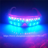Blue luminous flashing led light glasses red laser show glassess christmas halloween party stage show laserman glassess