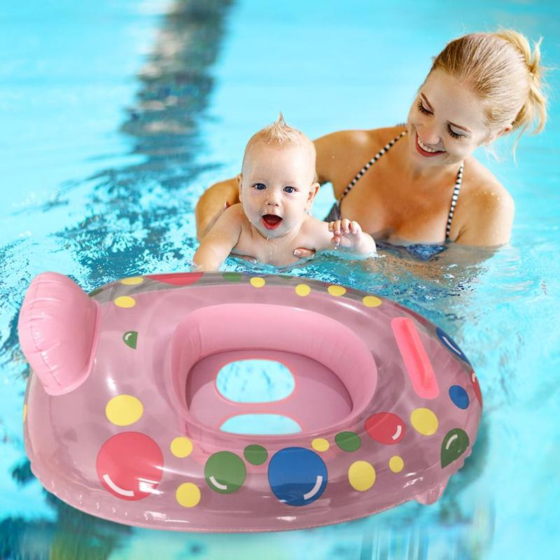 Baby Kids Summer Swimming Pool Swimming Ring Safety Infant Inflatable Float Circle Seat Boat Summer Swimming Water Fun Pool Toys