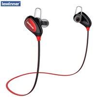 Lewinner K3 English Voice IPX4 Rated Sweatproof Stereo Bluetooth Headphones Wireless Sports Earphones AptX Headset For