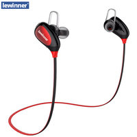 Lewinner K3 English Voice IPX4 Rated Sweatproof Stereo Bluetooth Headphones Wireless Sports Earphones AptX Headset For