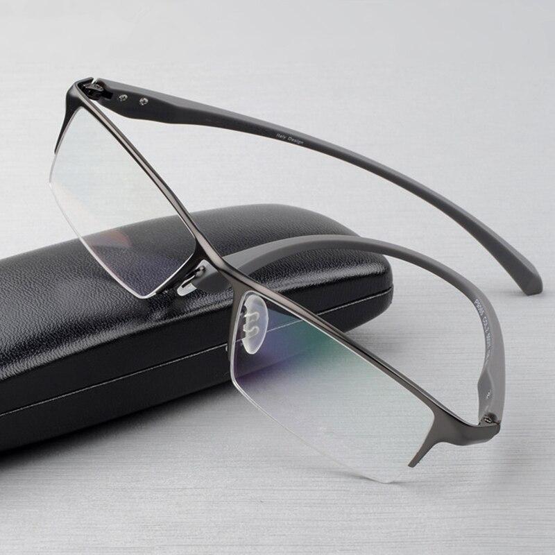 Оправа для очков из чистого титана, полная оправа для очков, мужские Оптические очки, оправа для очков, Дизайнерские Большие простые очки-in Мужские очки кадры from Аксессуары для одежды on AliExpress - 11.11_Double 11_Singles' Day