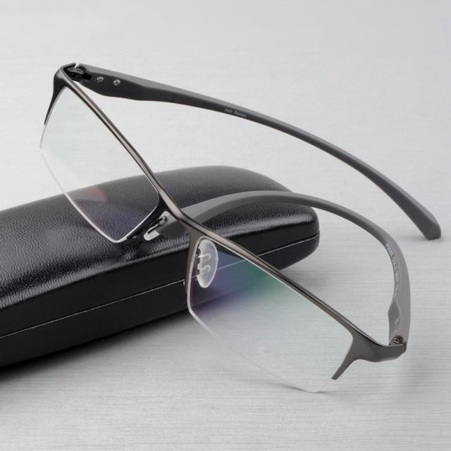Оправа для очков из чистого титана, мужская оправа для очков, оправа для очков, большие простые дизайнерские оправы