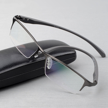 Pure titanium glasses frame full eyeglasses frame men optical glasses eyeware spectacle frames designs large plain