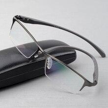 Saf titanium gözlük çerçevesi tam gözlük çerçevesi erkekler optik gözlük gözlük gözlük çerçeveleri tasarımları büyük düz