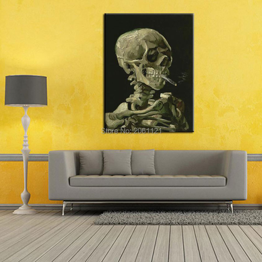 Smoking Skull with Cigars! Hand Painted ideas Painting unique canvas ...