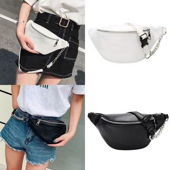 цена на Waist Bag Women designer fanny pack fashion belt Holiday money Wallet Bum Travel Bag Phone Pouch 2019 Black White
