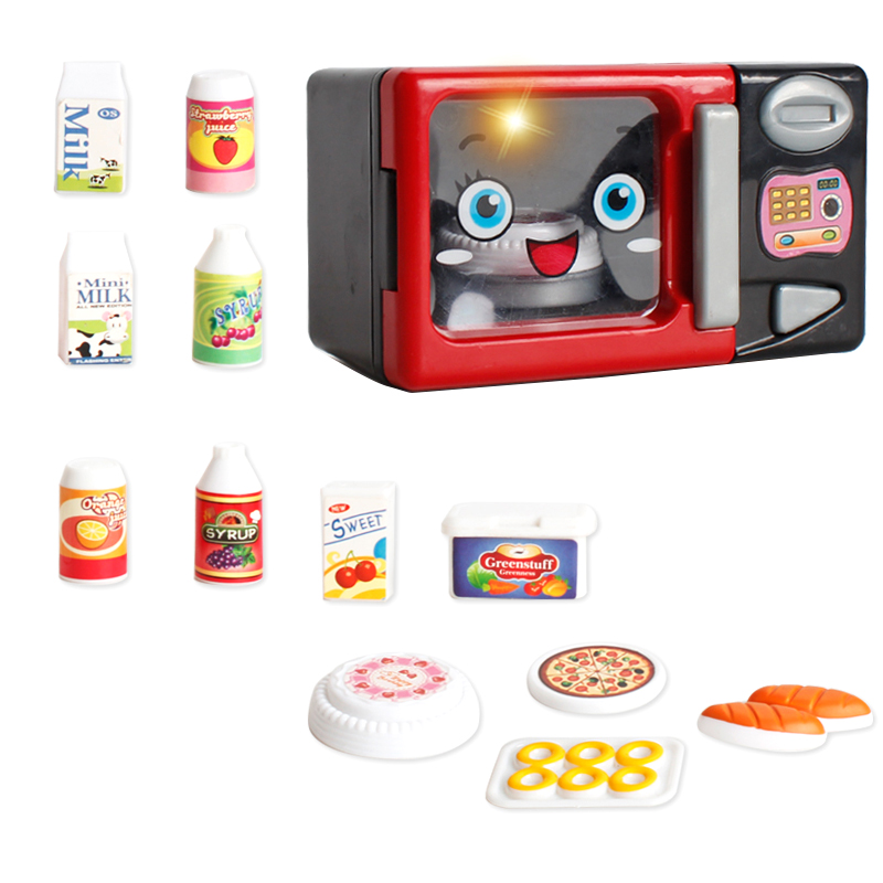 US $10.94 47% OFF|Simulation Microwave Oven Appliances Toys w/ Sounds &  Lights Baby Kid Pretend Play Kitchen Cooking Play Food Toy Developmental-in  ...