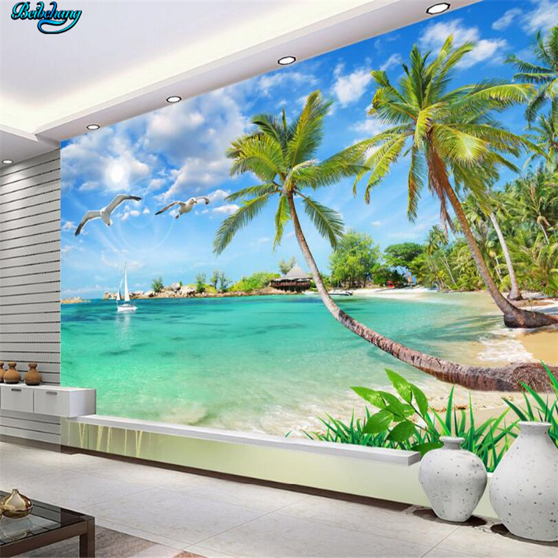 Beibehang Large Custom Wallpapers Summer Hawaiian Landscape
