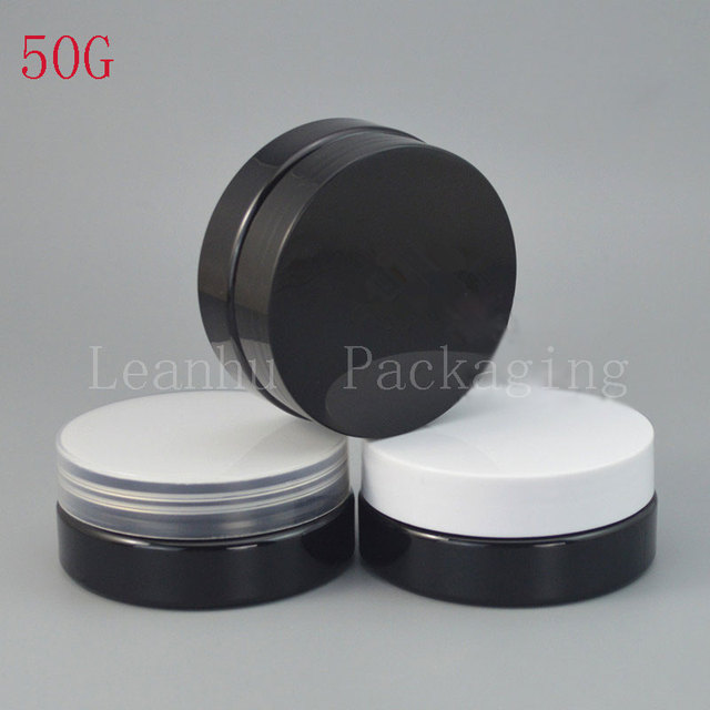 8b3574f3c181 US $61.11 10% OFF|Black Refillable Skin Care Cream Jar,Refillable Empty  Cream Jars Cosmetic Packaging,50G High Quality Lotion And Cream  Containers-in ...