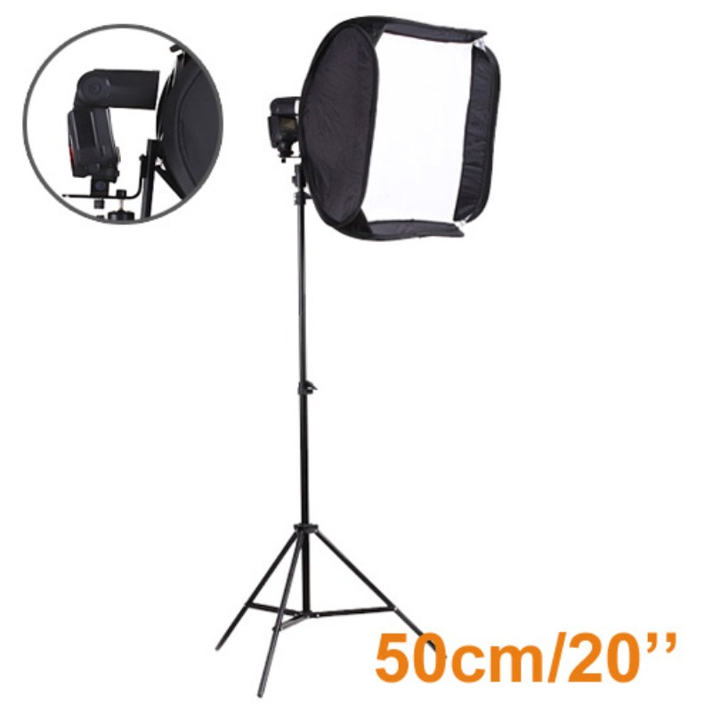 Inno New Photo Video Studio lighting kit 20/50cm Portable Softbox for Speedlite + Light Stand Softbox With Support  PSK3A багажники inno