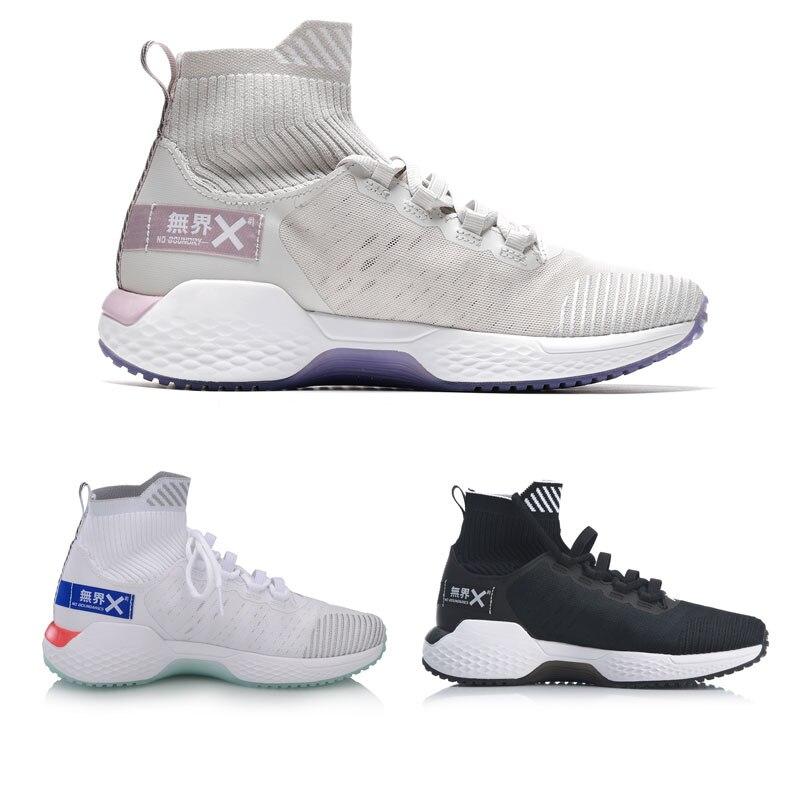 Li Ning Frauen KEINE GRENZEN Training Schuhe Kissen Mono Garn Atmungsaktive Futter Cloud Sport Schuhe Turnschuhe AFJP006 YXX049 - 2
