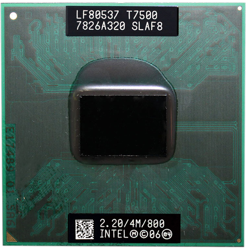 Intel Core Duo T7500 CPU Dual-Core Laptop Processor For 965 Chipset 4M Cache 2.2GHz 800MHz FSB